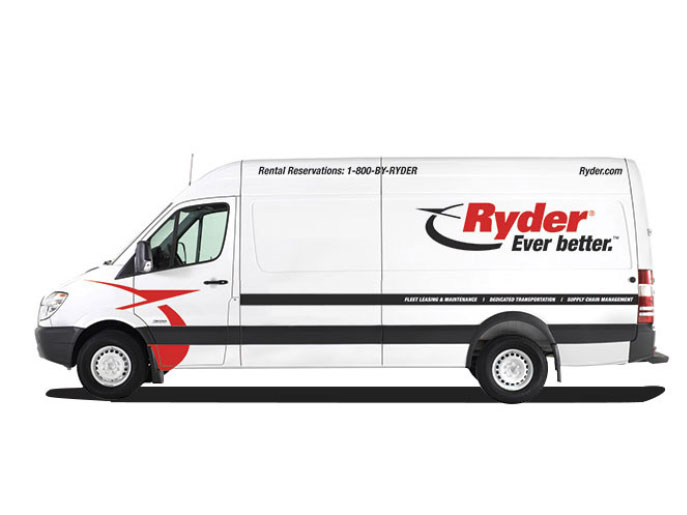 rent sprinter van side view