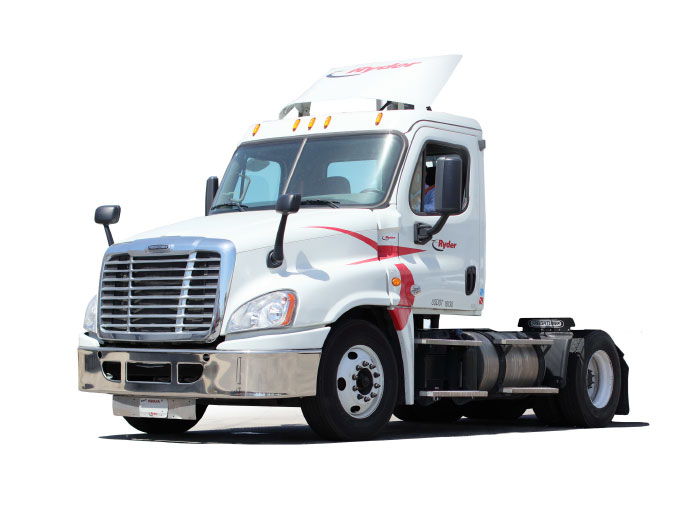 Day Cab Single Axle Semi Truck Al